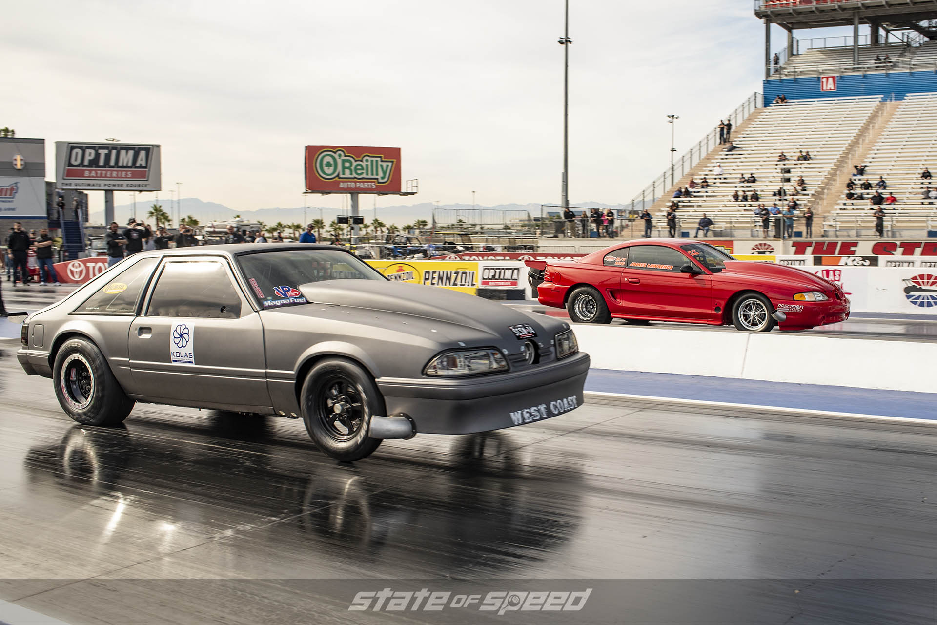 Fox Body Ford Mustang vs Ford Mustang at the dragstrip
