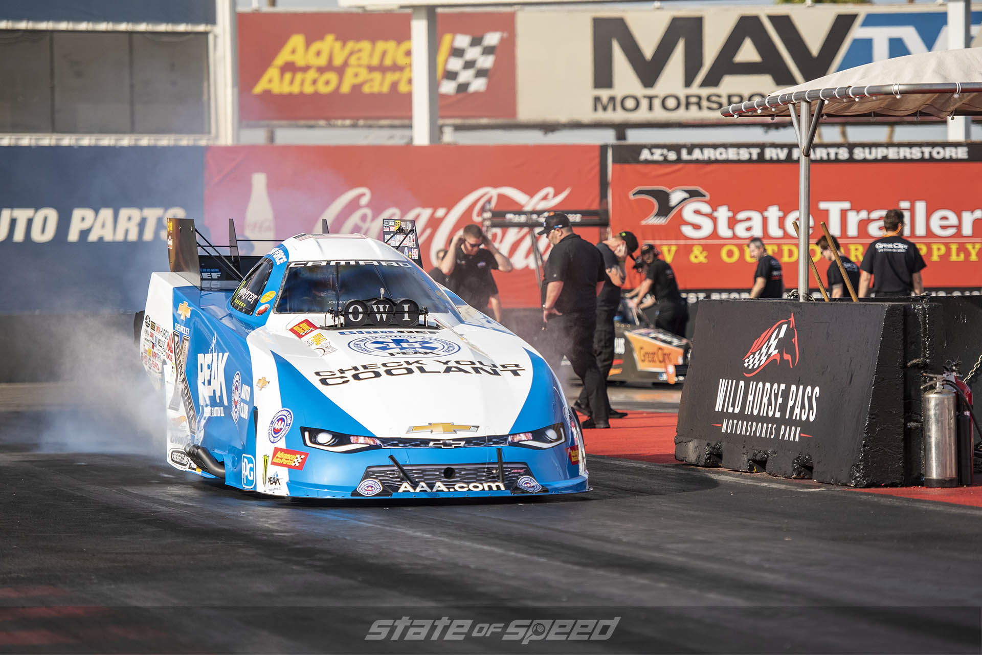 John Force at the dragstrip