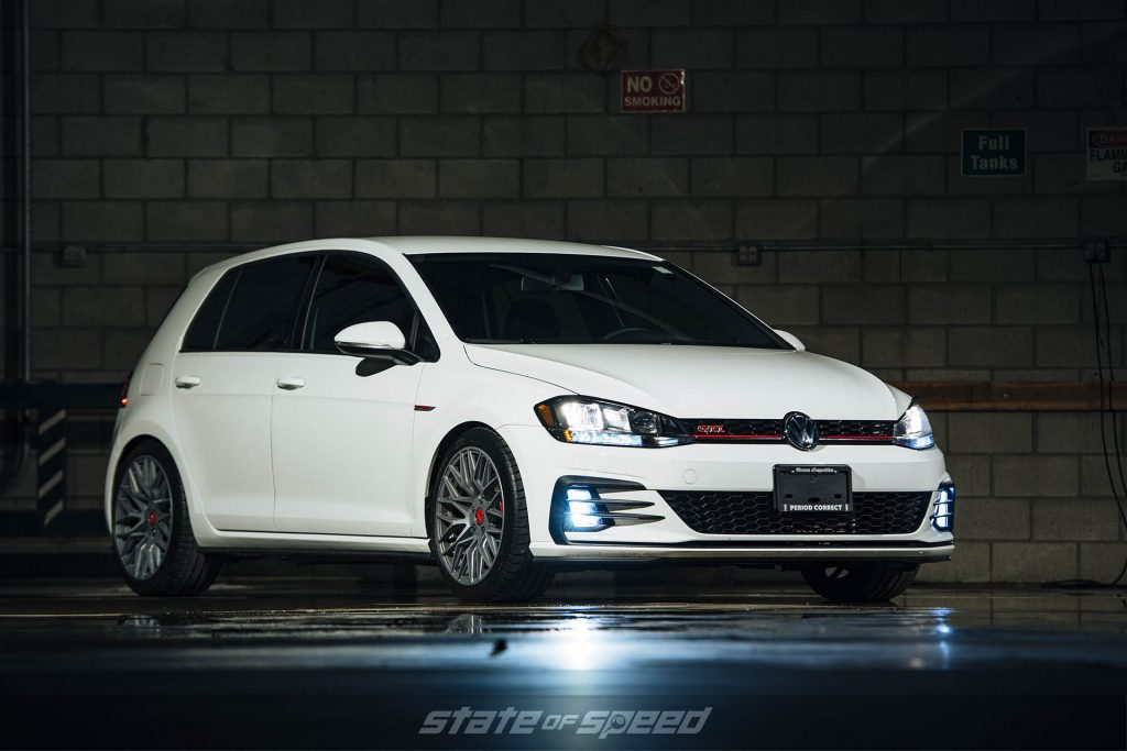 VW GTI with MOMO RF10S flow form wheels