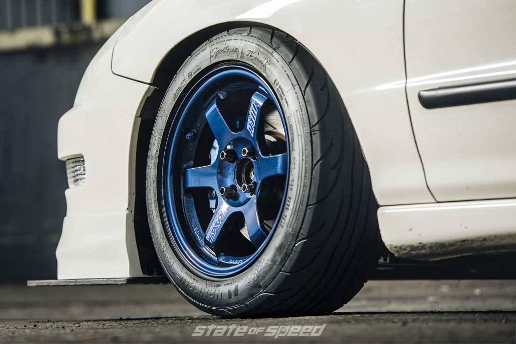 Integra with Volk TE37 Forged wheels and Nankang NS2R tires