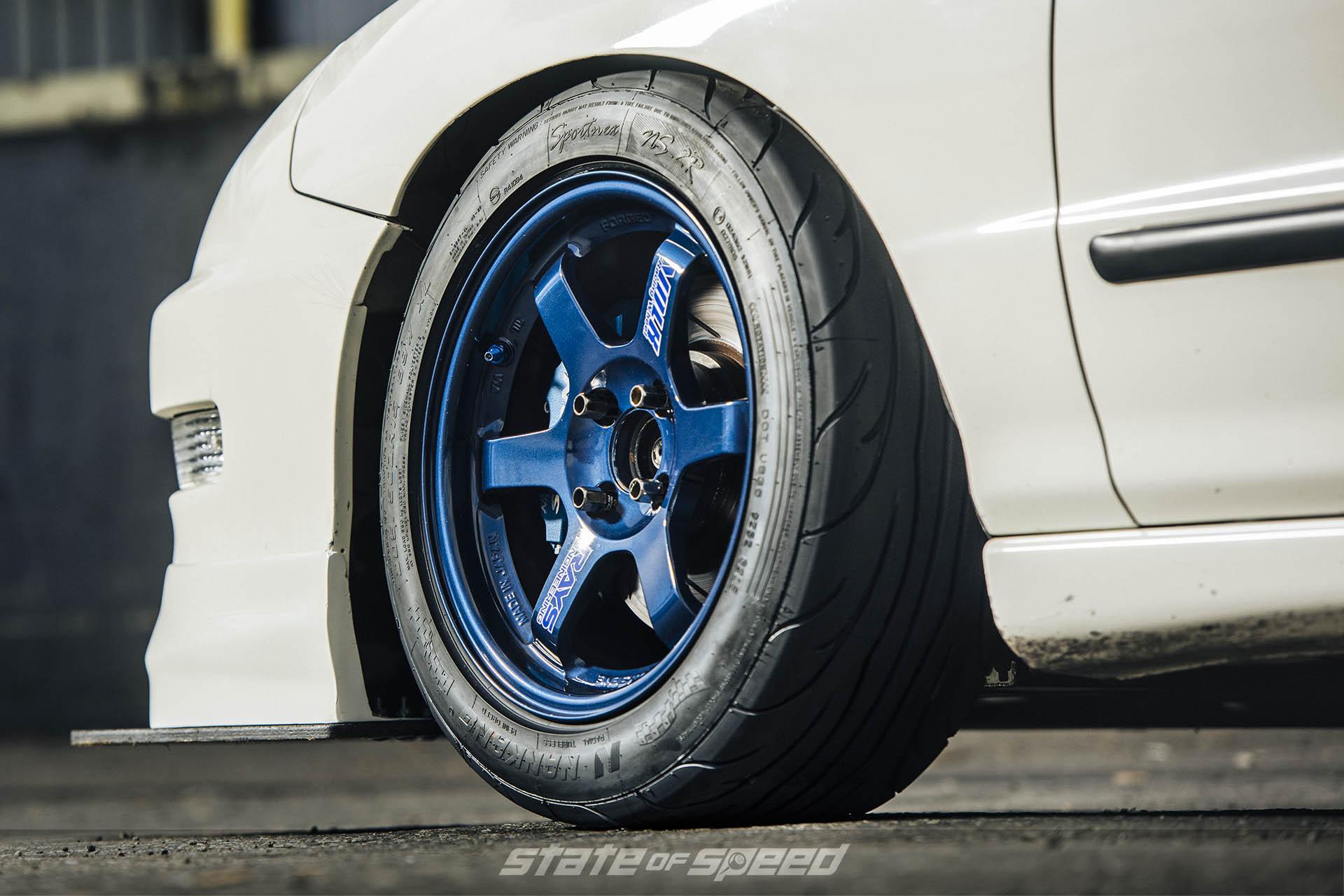 Integra with Volk TE37 Forged wheels and Nankang NS2R tires