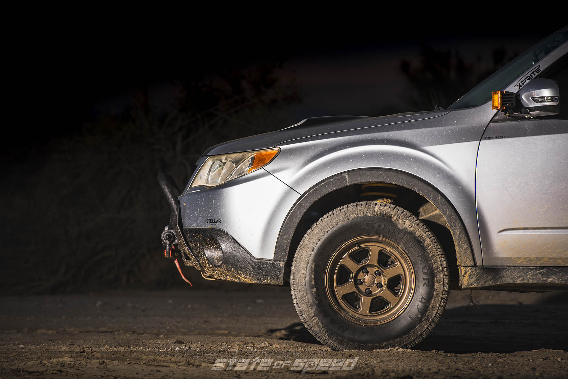 Subaru Forester on Battle Ready Rumble Cast wheels with Nankang Conqueror A/T Tires