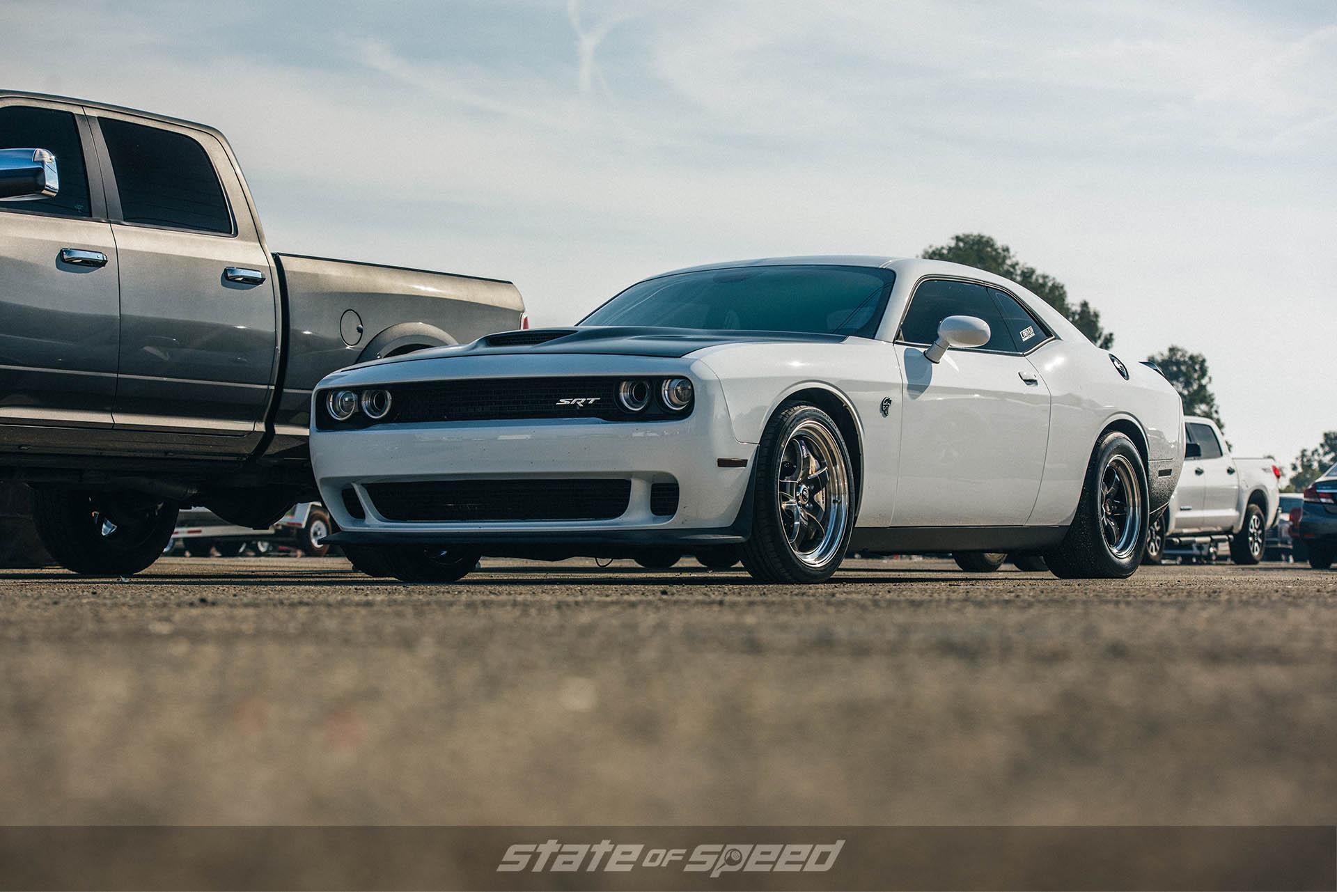 Dodge Challenger Hellcat with Weld wheels