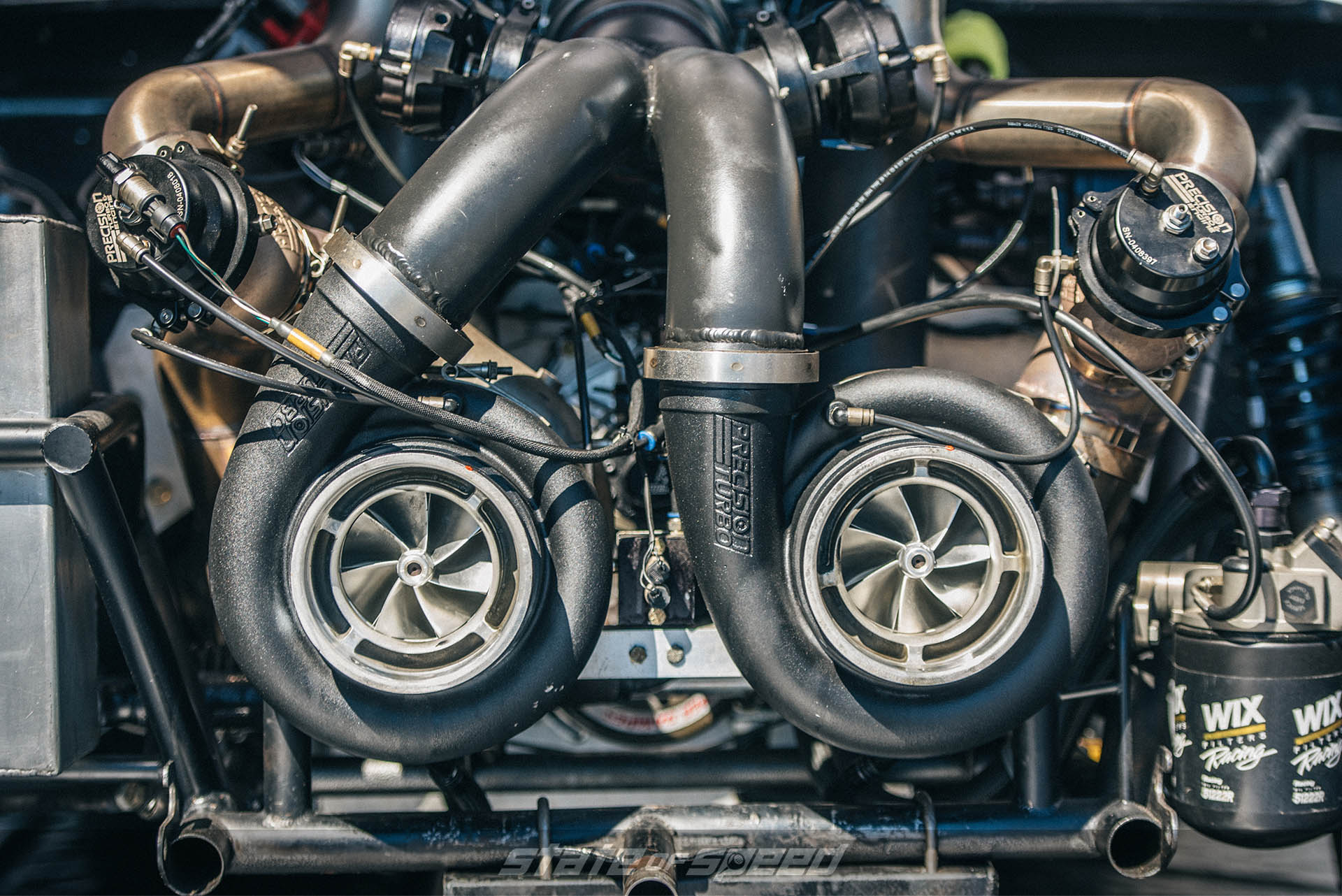 precision Twin turbo engine