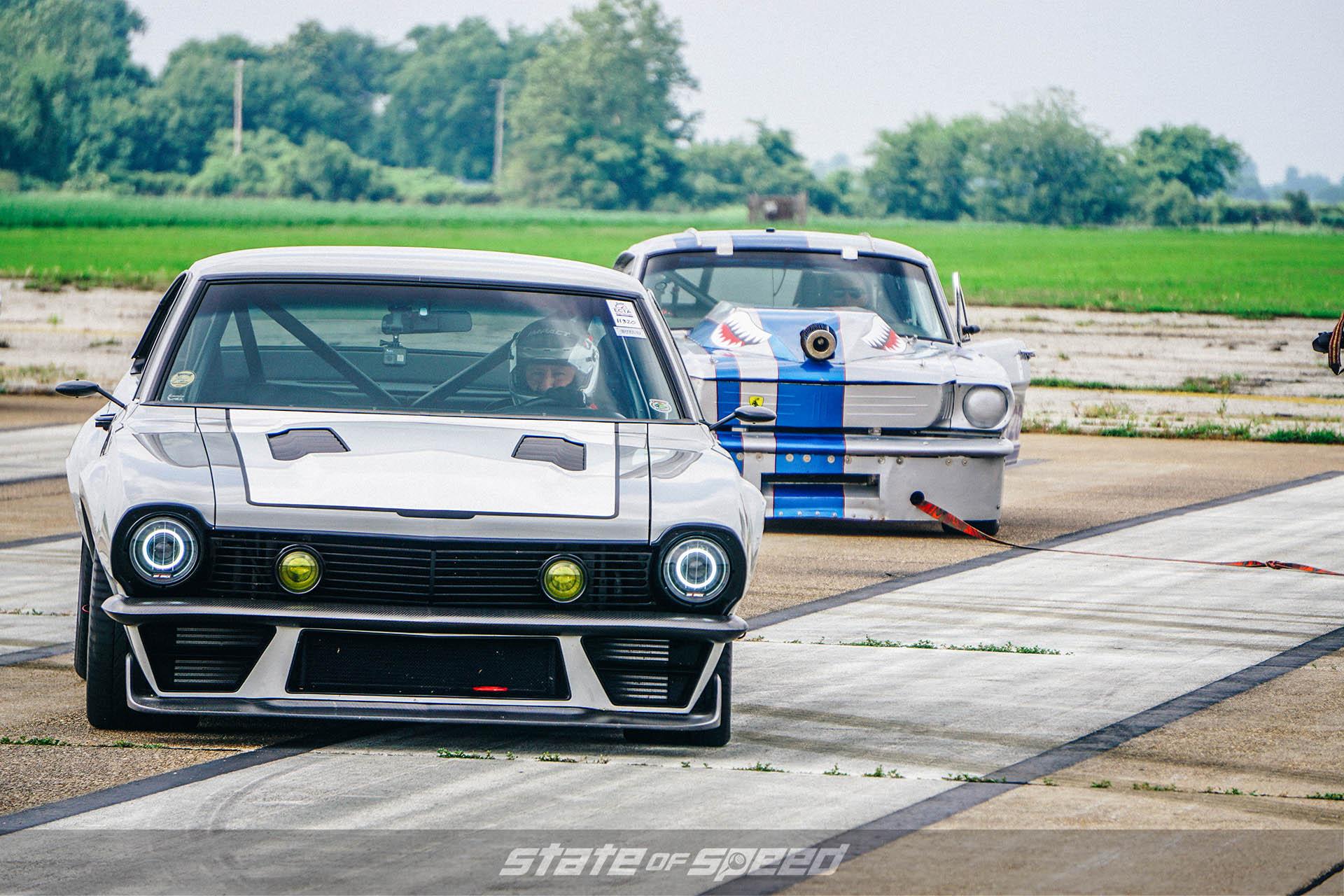 racing a ford maverick