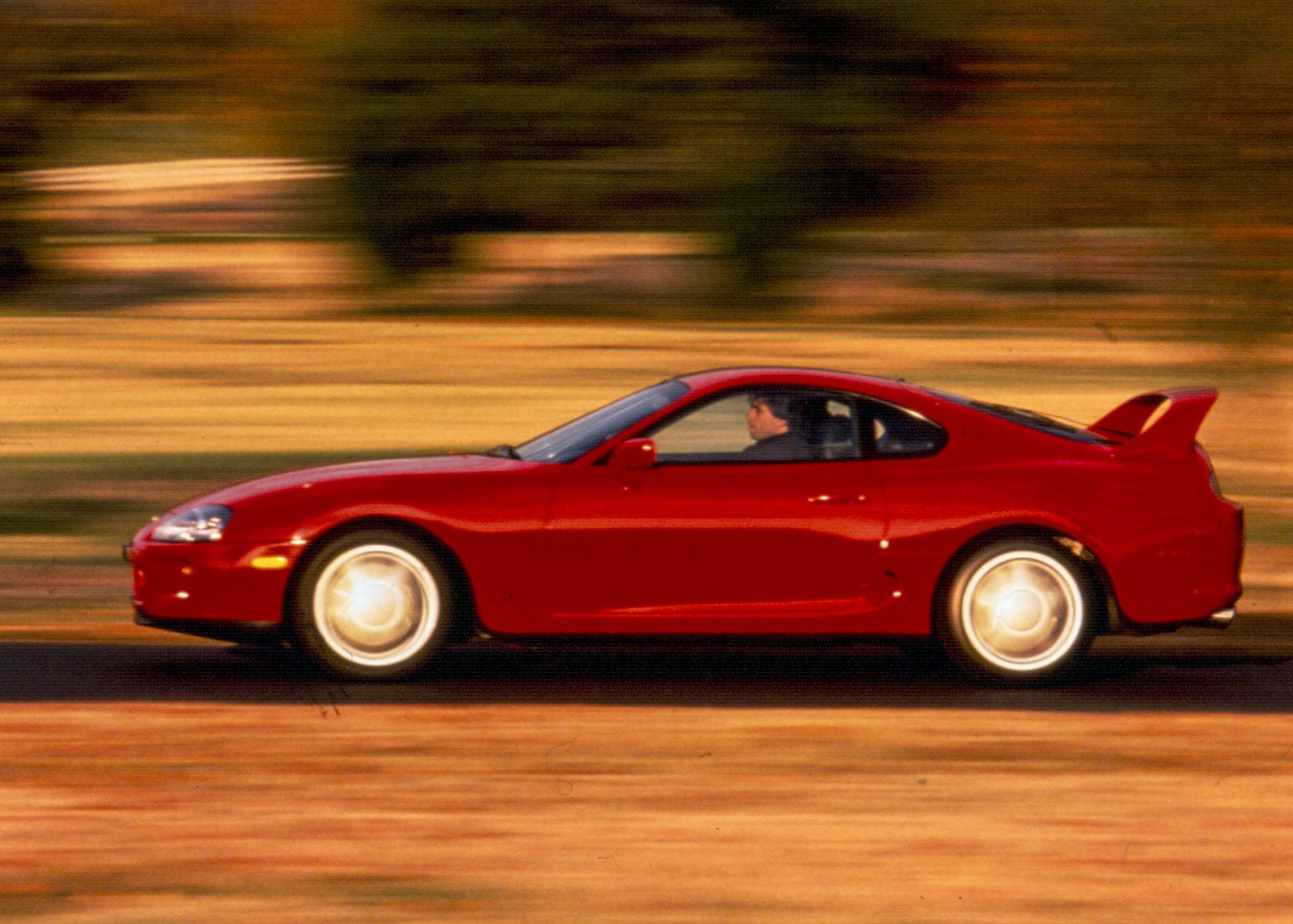 Red fourth generation Toyota