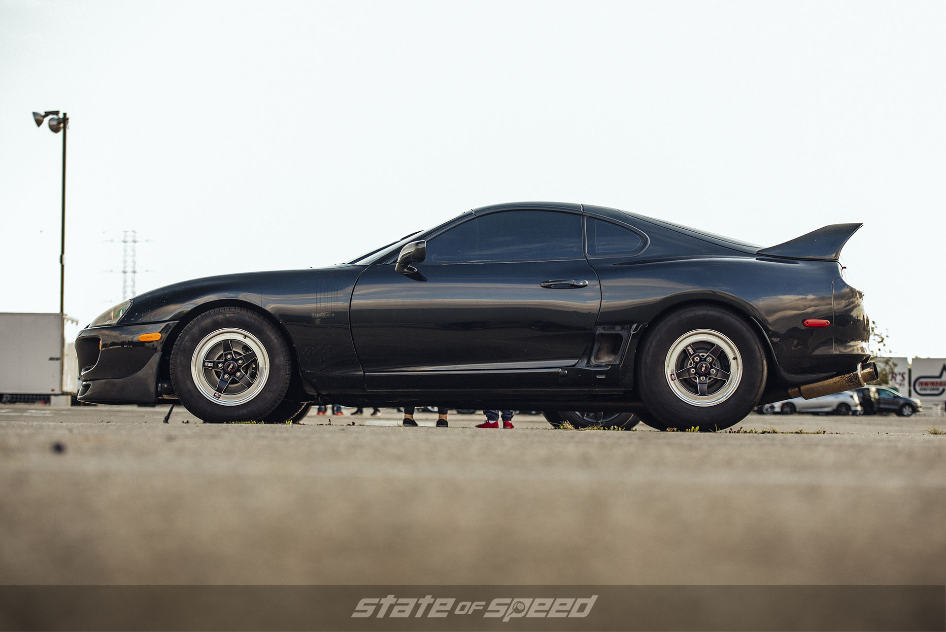 Toyota Supra at the track