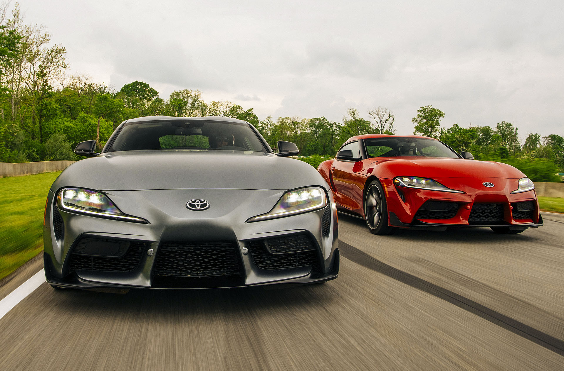 Red and Grey Supra A90