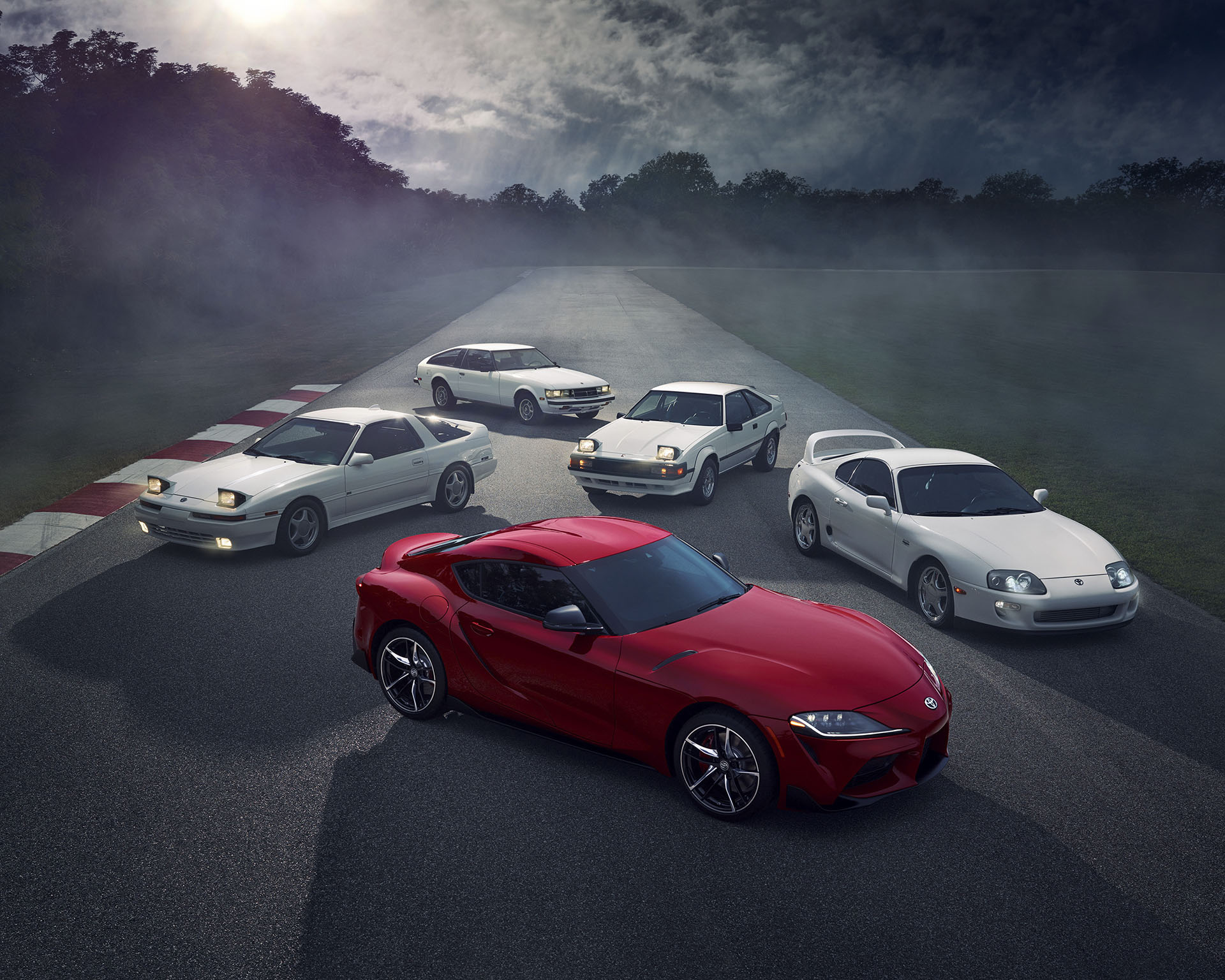 All generations of Supras