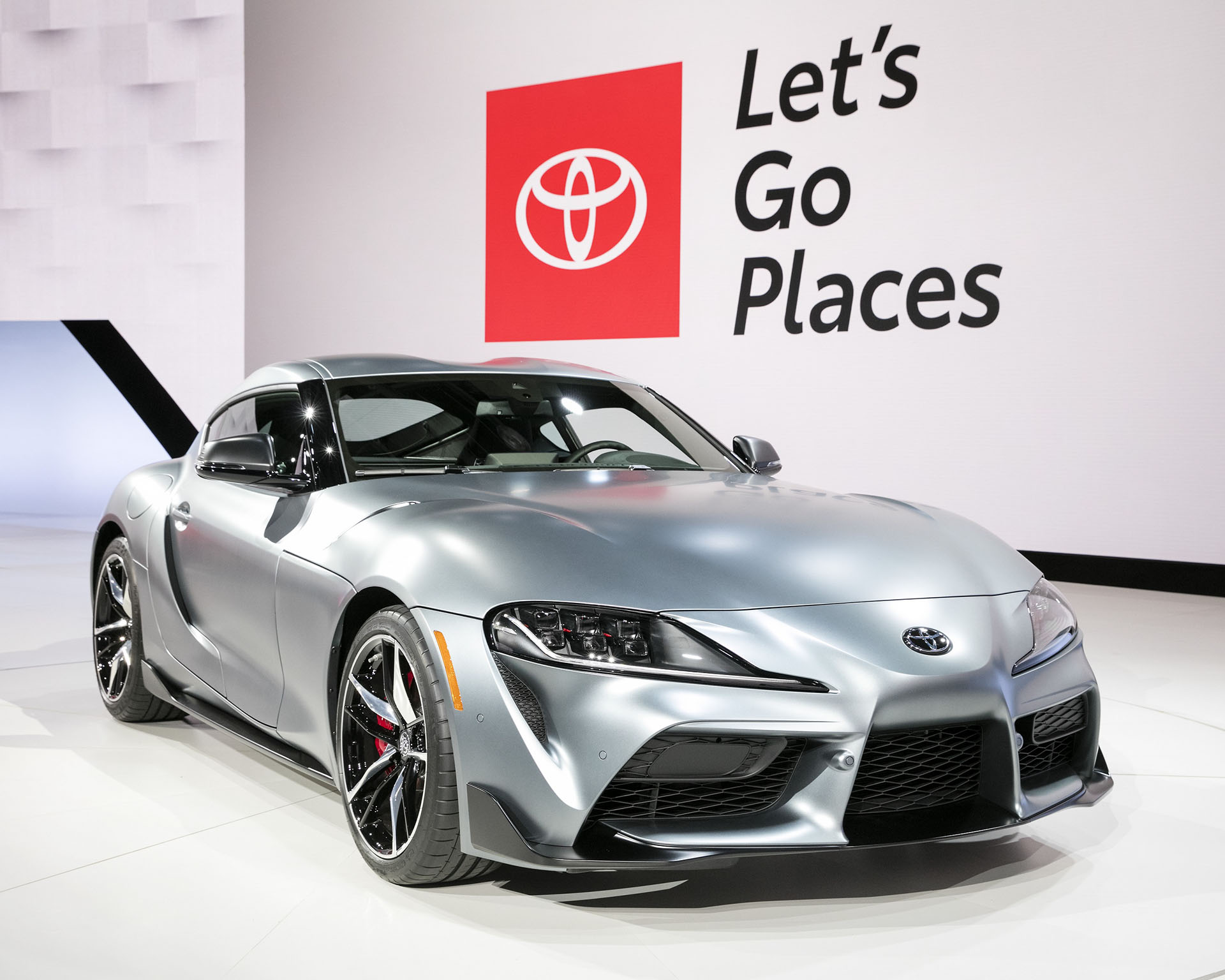 Toyota Supra A90 on the show floor