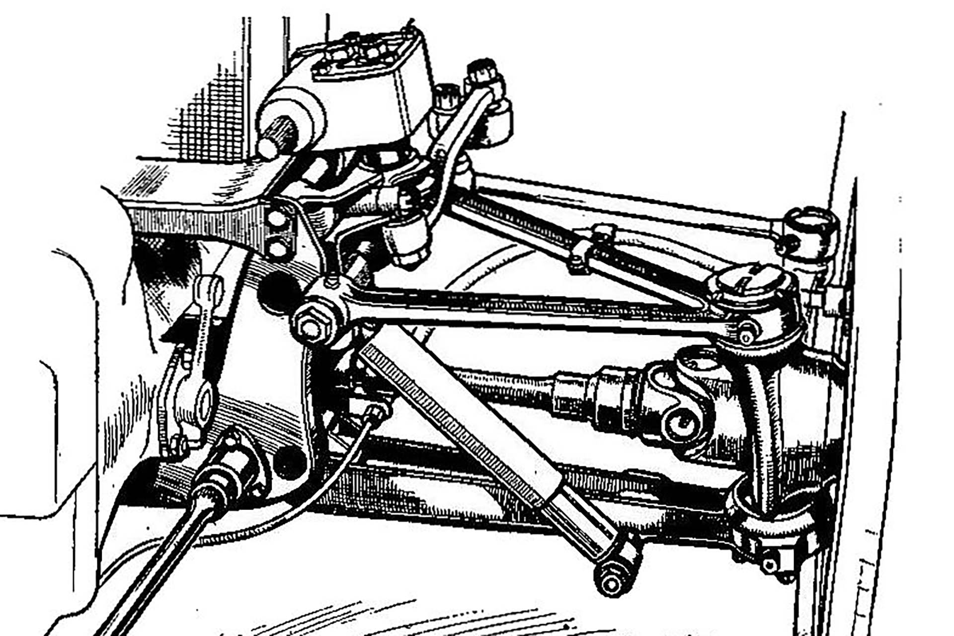 Independent front suspension