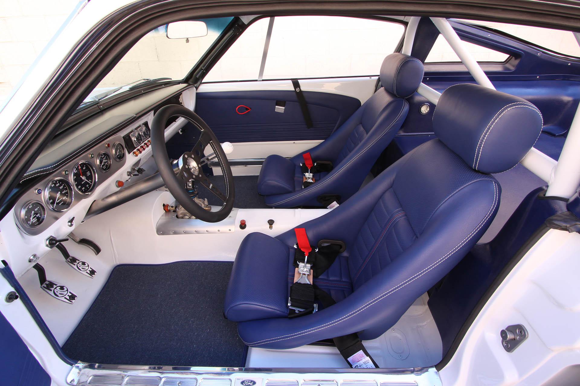 Mustang blue interior
