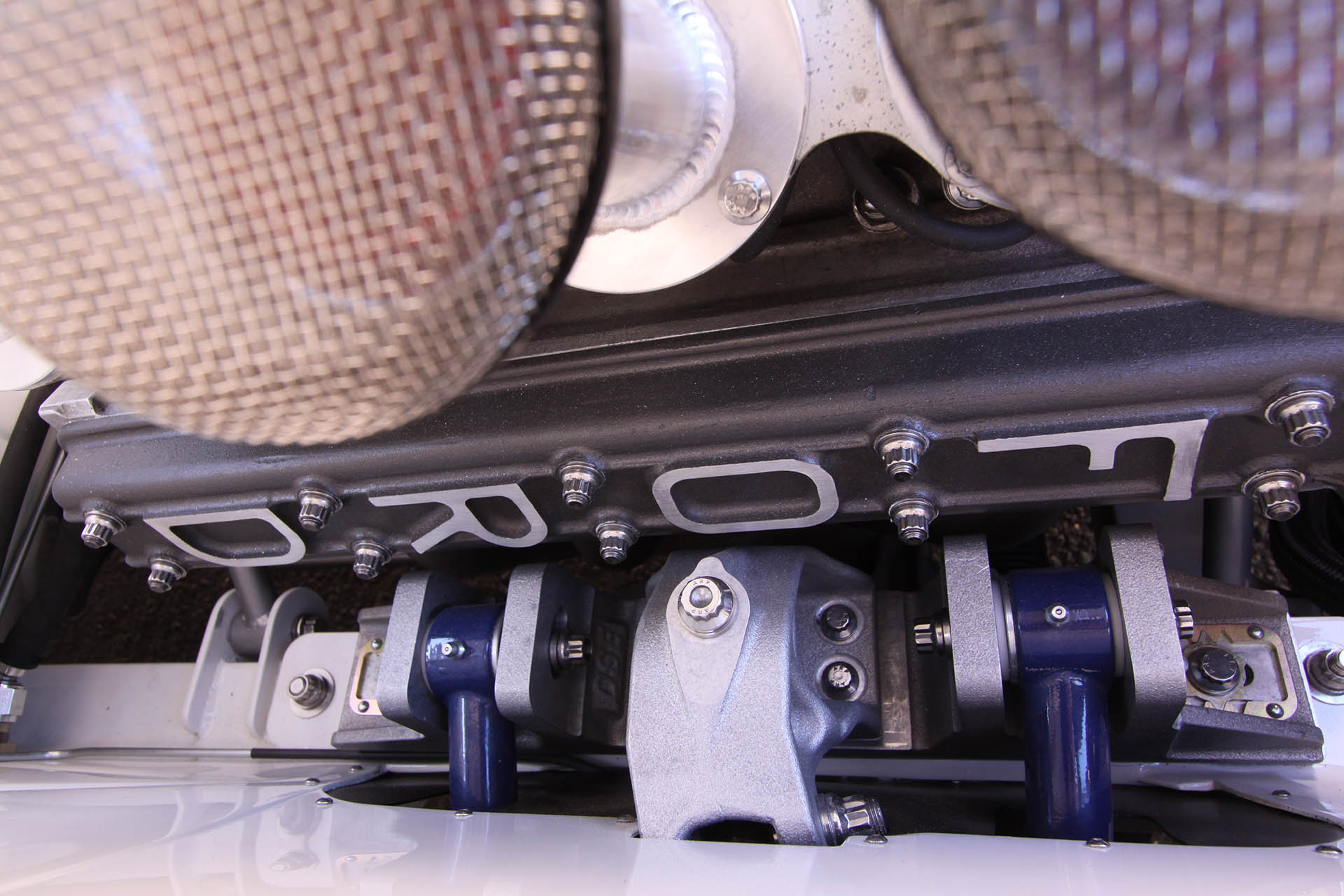 Ford engine block in classic Mustang