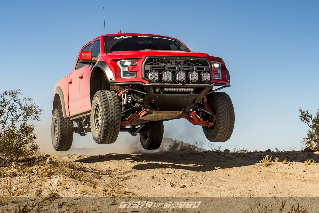 SVC Offroad Ford Raptor doing a jump
