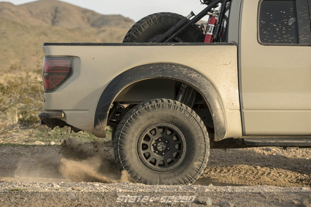 Ford Raptor with leaf springs in the rear