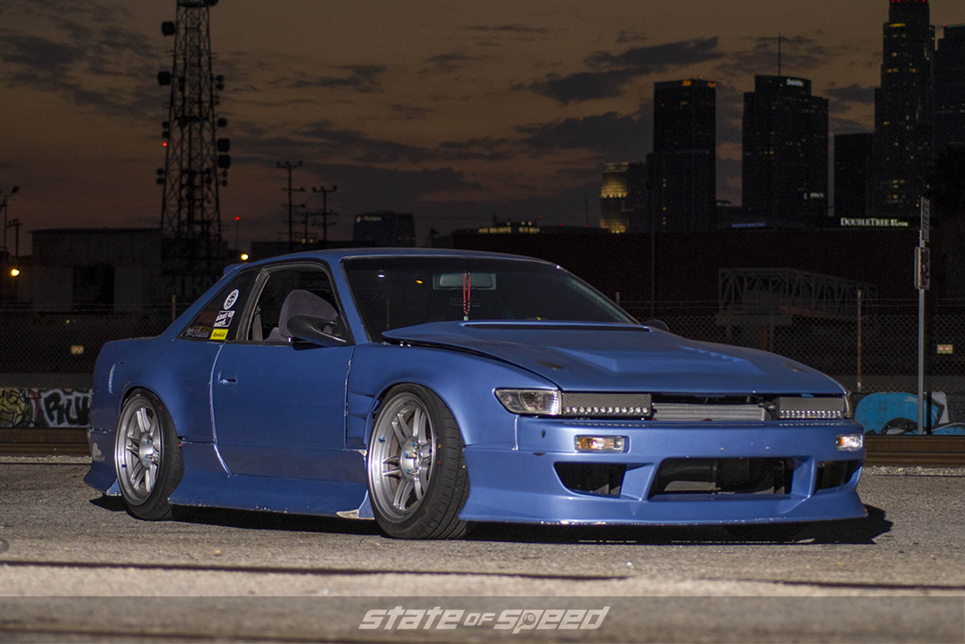 Modded 240sx coupe with s13 front end