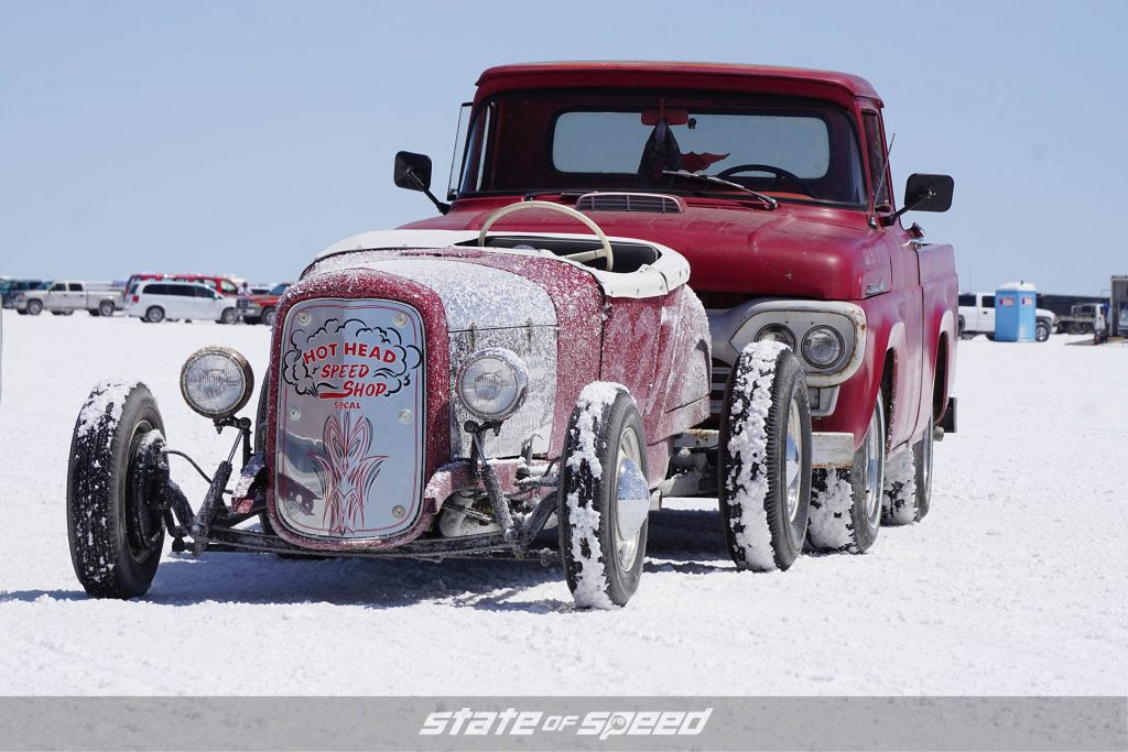 Hot rod at the salt flats