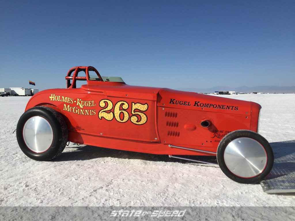 Custom roadster at Bonneville Speedway