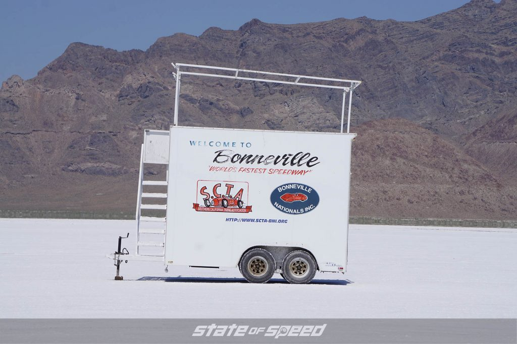 Trailer at the Bonneville Salt Flats