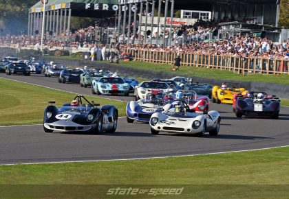 Classic car racing at Goodwood Revival