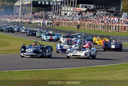 Classic car racing at Goodwood Revival