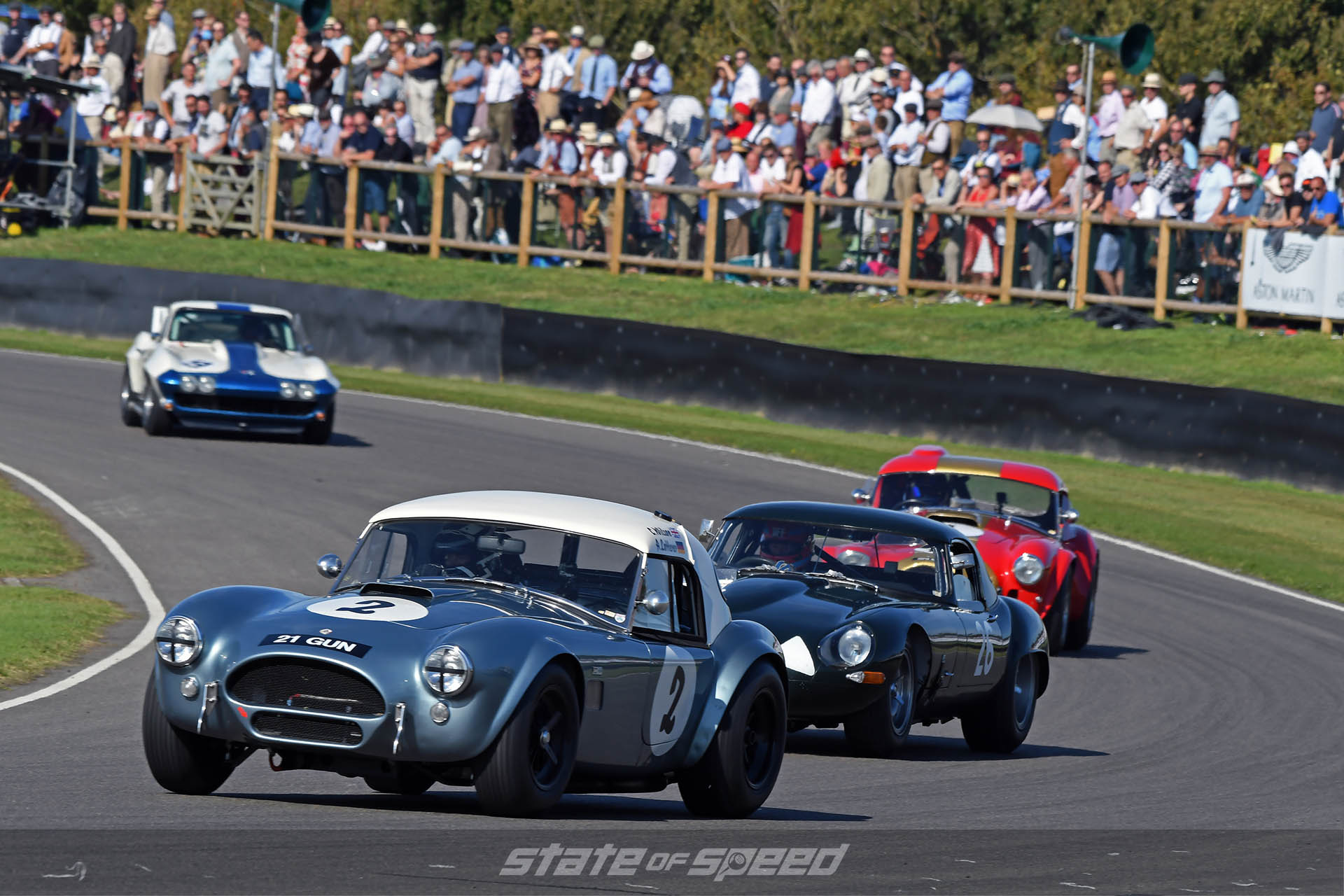 Vintage race cars on the track