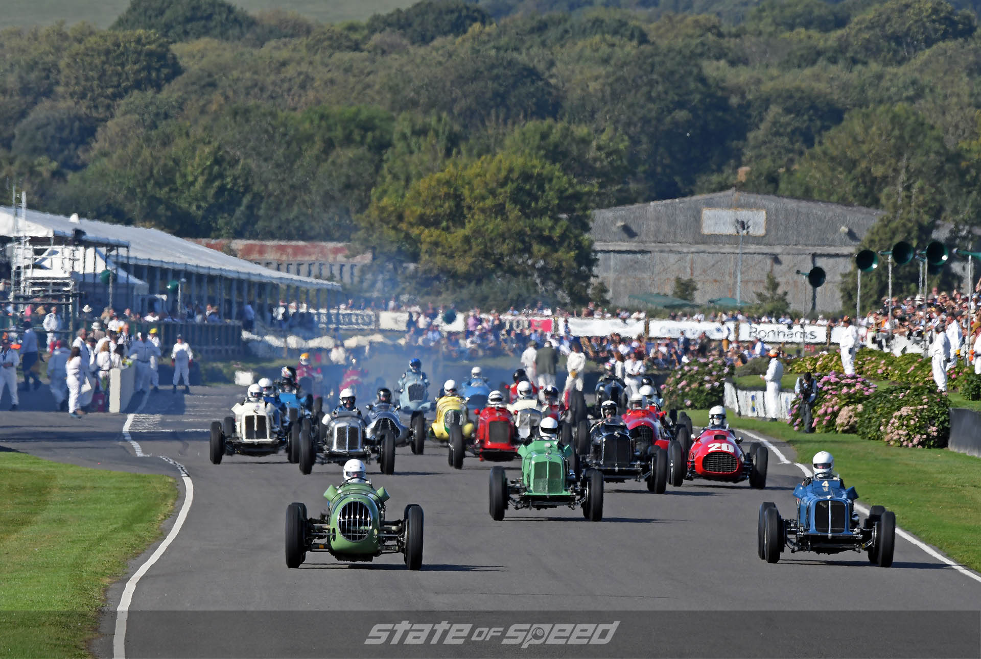More open wheel racing at Goodwood Revival