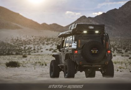 Grey Overland style Jeep