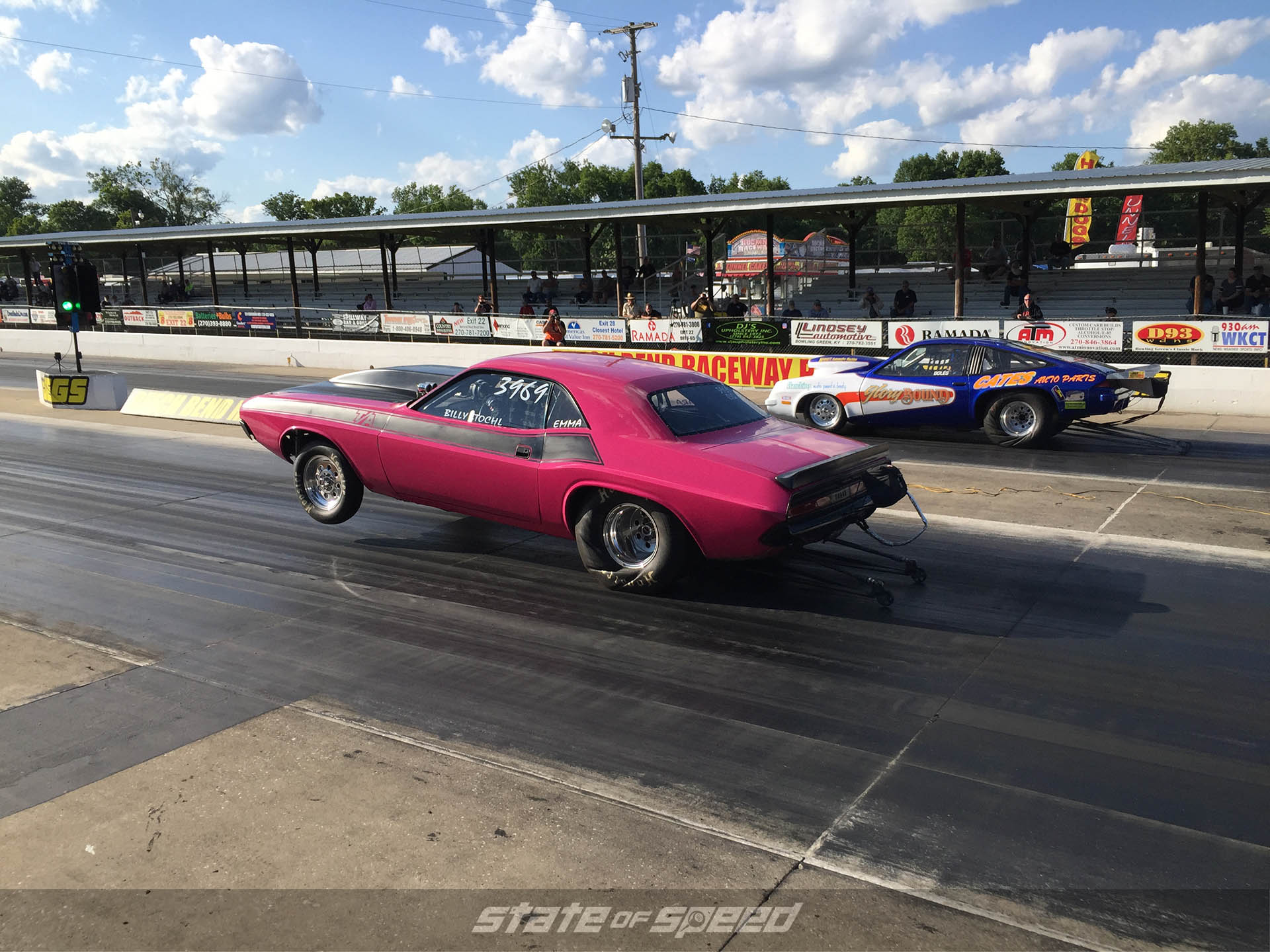 Dodge Challenger Dragstrip launch