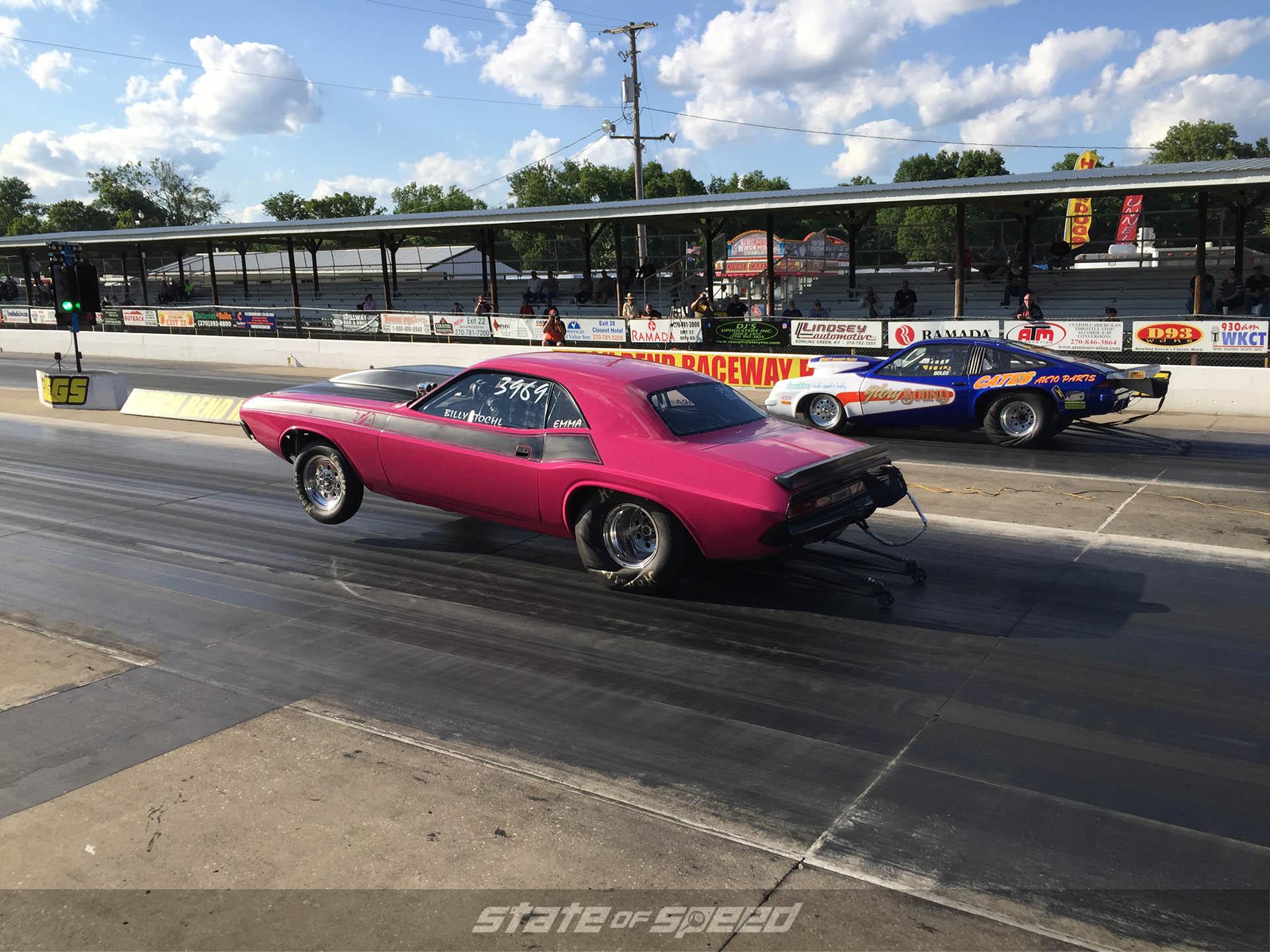 Dodge Challenger Dragstrip launch
