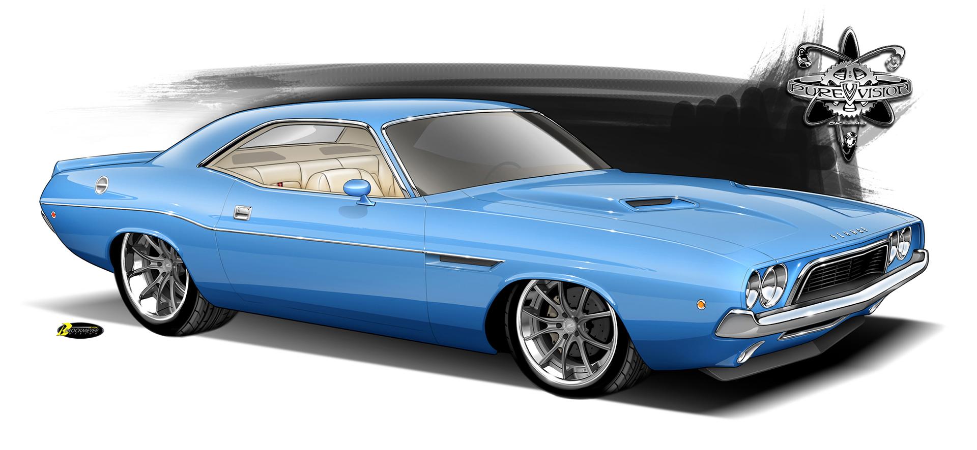 Dodge Challenger Render
