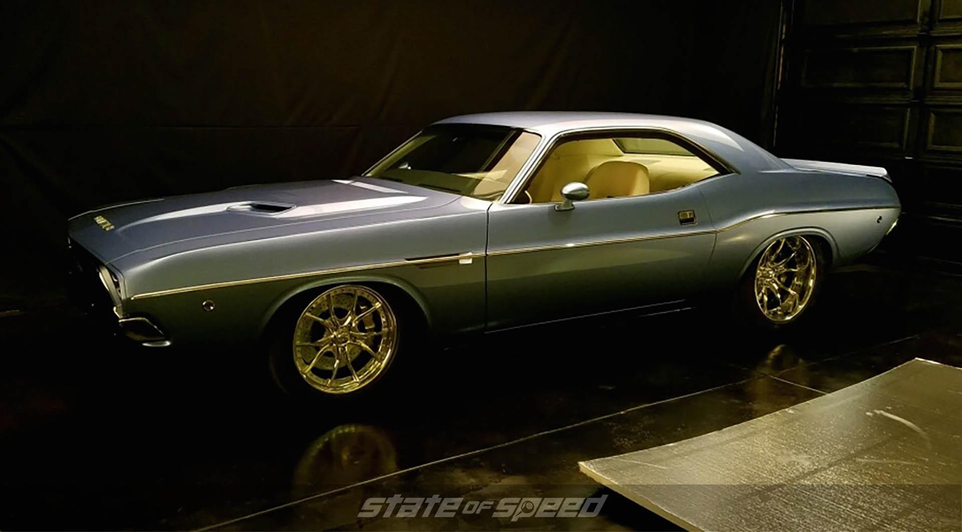 '73 Charles Schwab Challenger on display