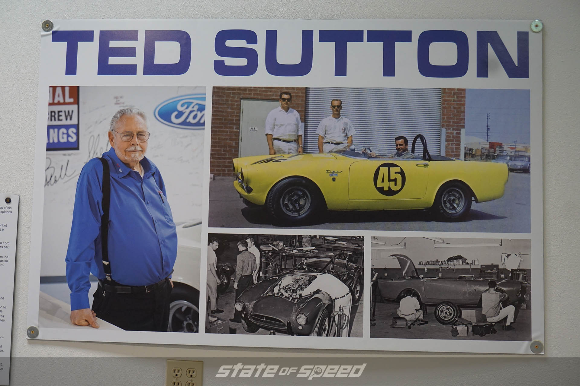 Poster honoring Ted Sutton