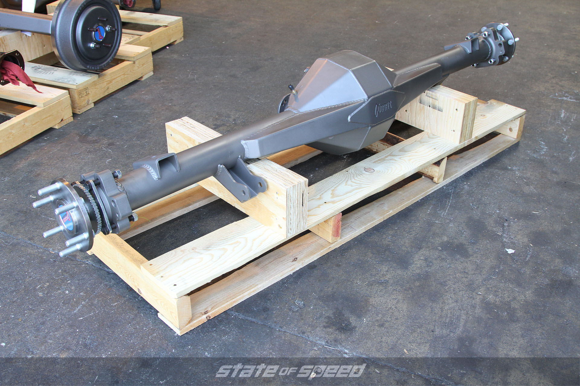 Straight axle assembly