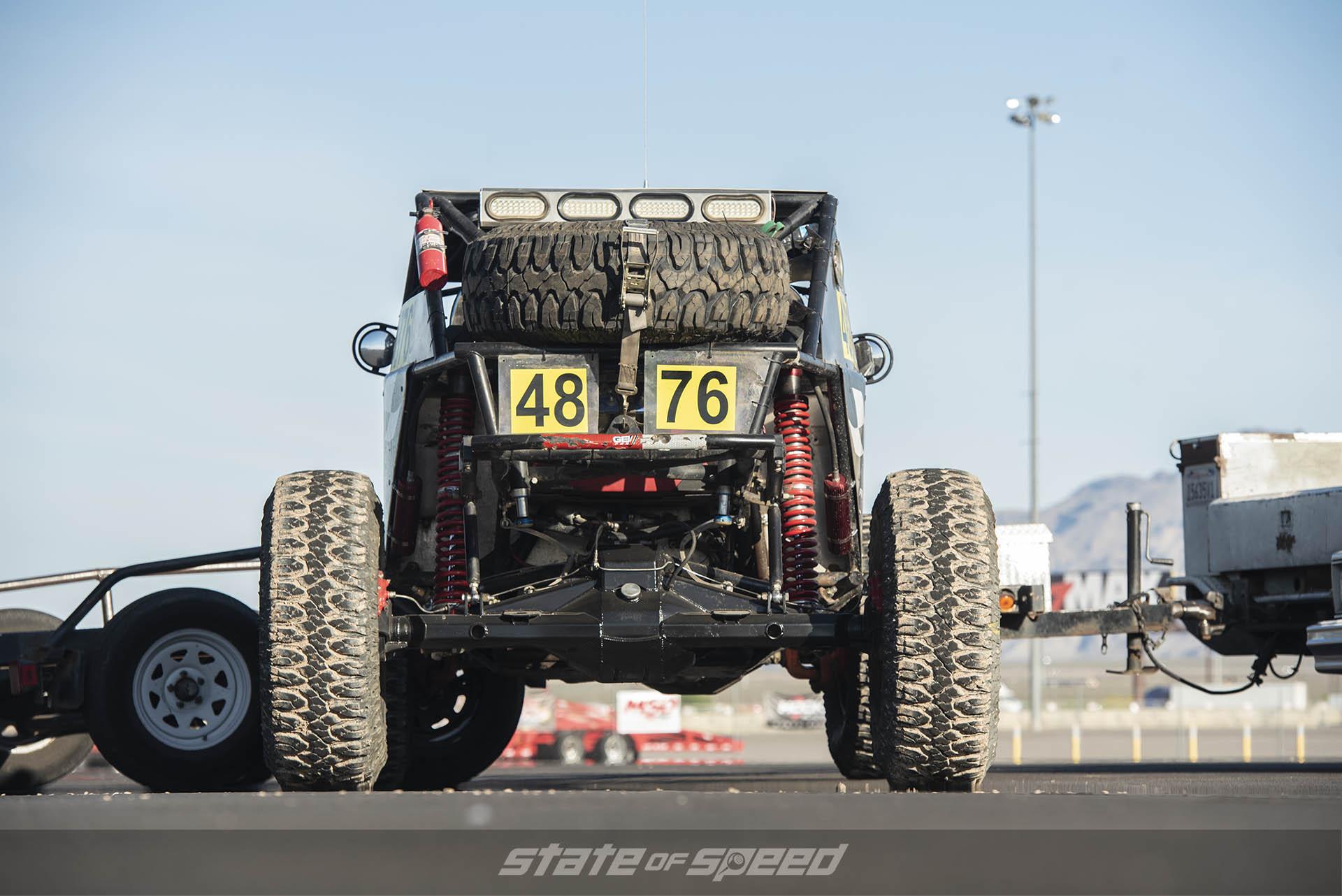 Offload race car axle