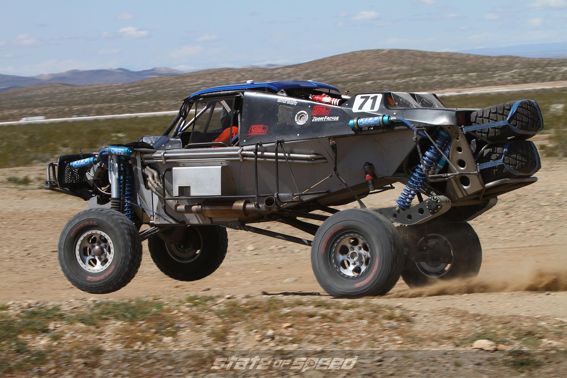 Race UTV getting air