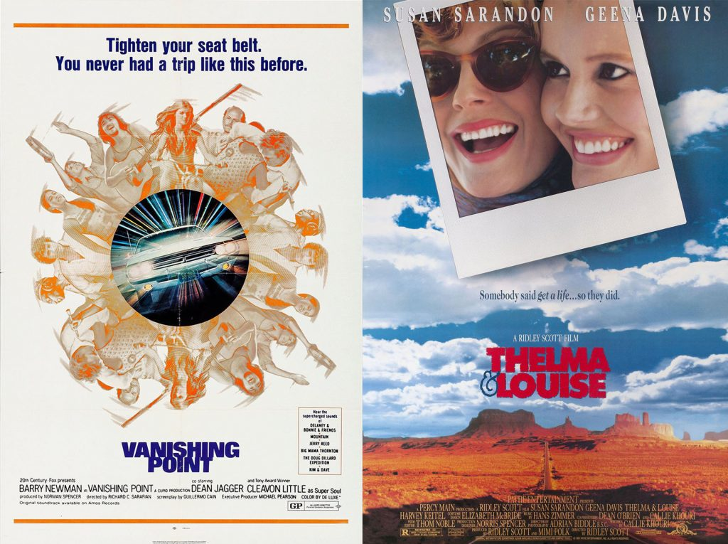 Vanishing Point and Thelma & Louise movie posters