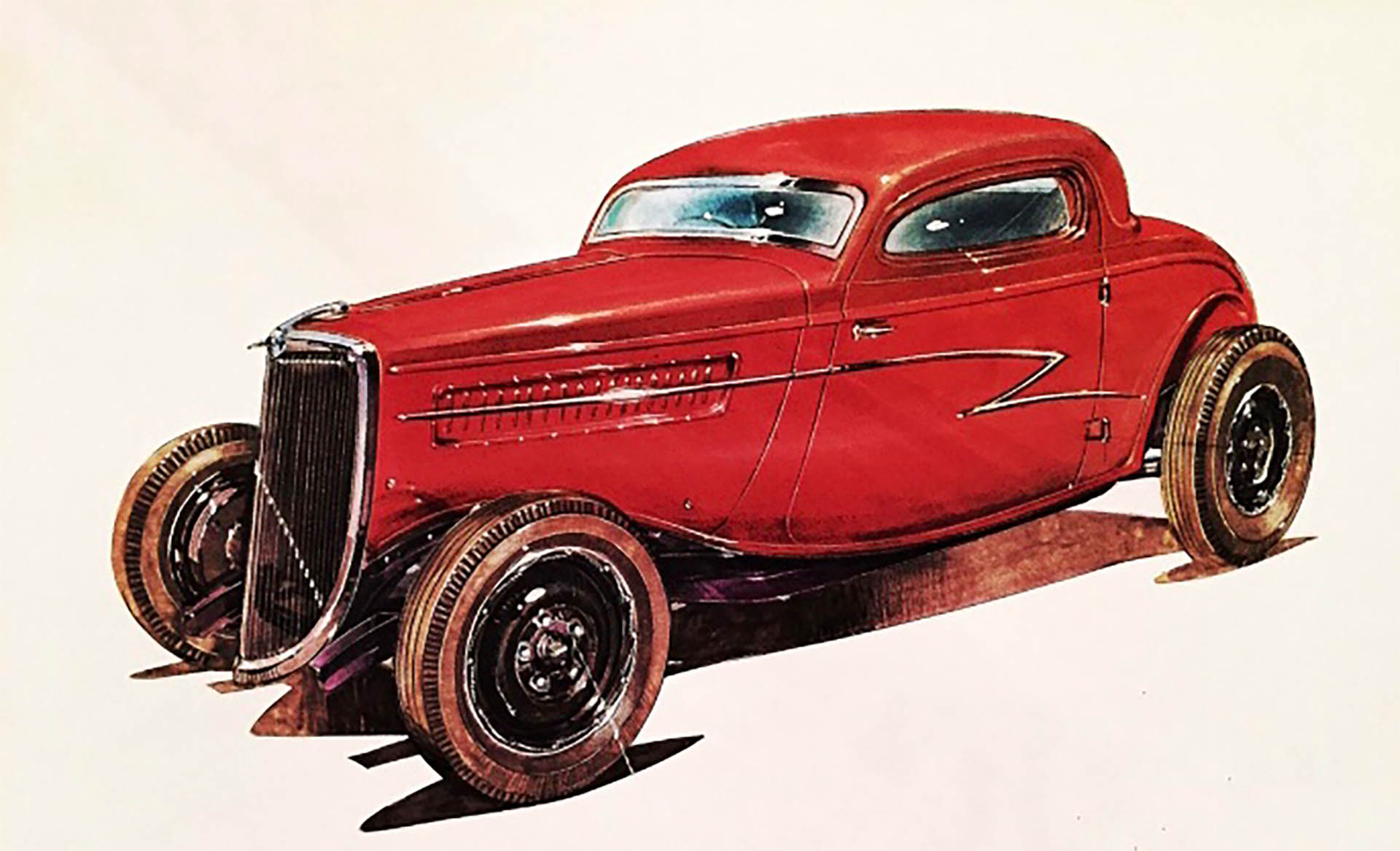 Rendering of the Eliminator inspired Ford coupe by Alberto Hernandez Rendering