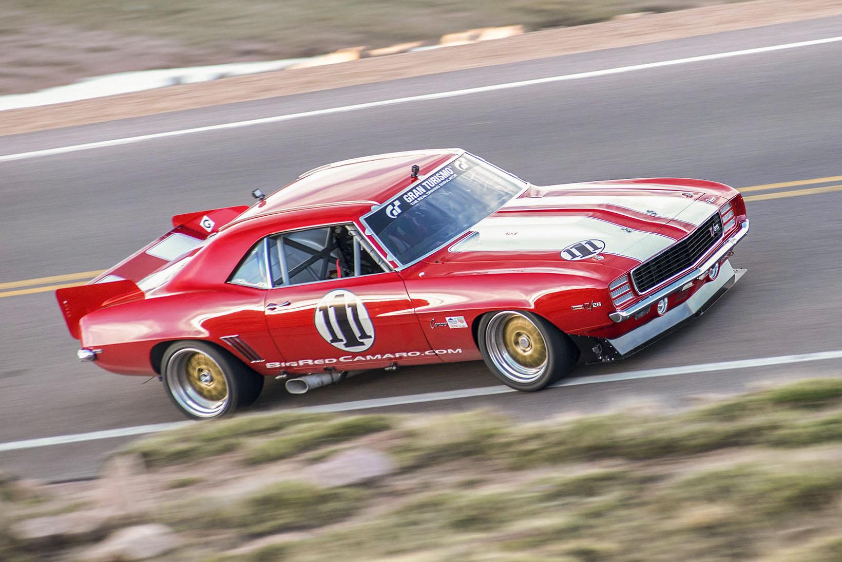 Big Red Camaro hill climb