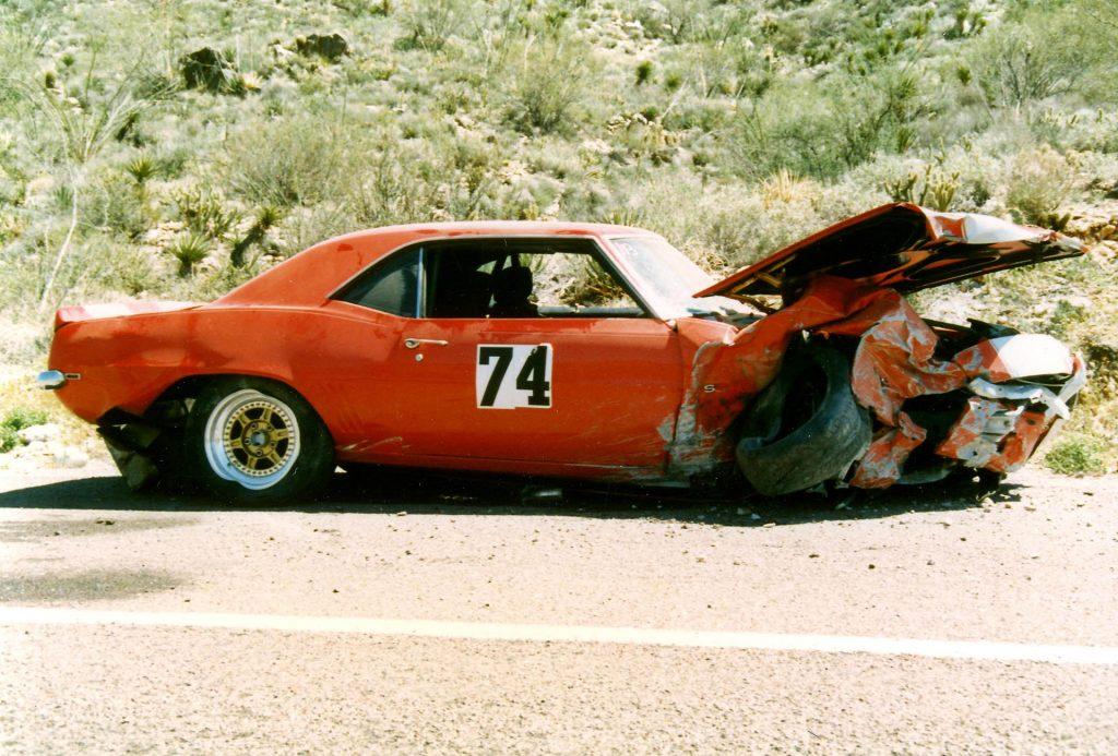 Big Red Camaro crash