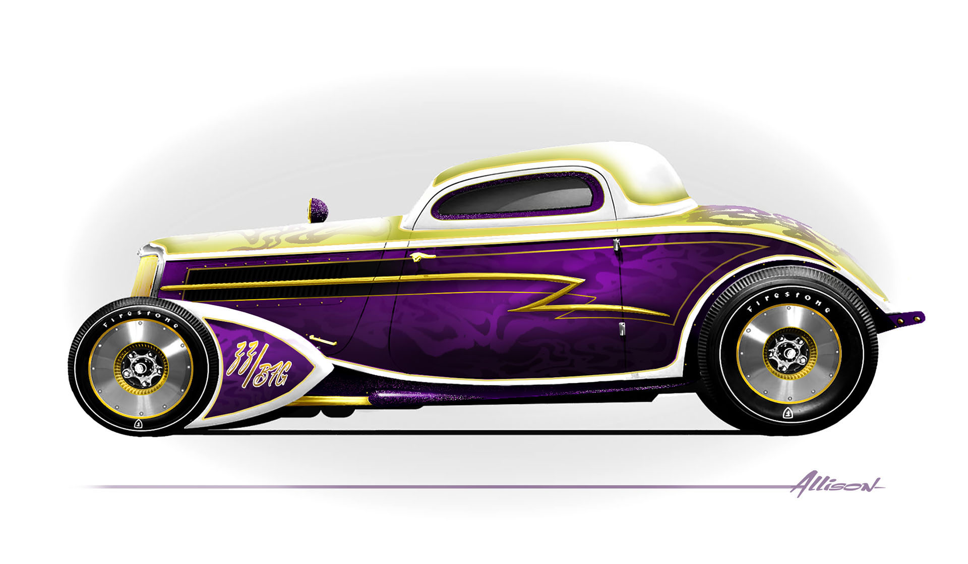 Whiskey Runner Ford Coupe concept art