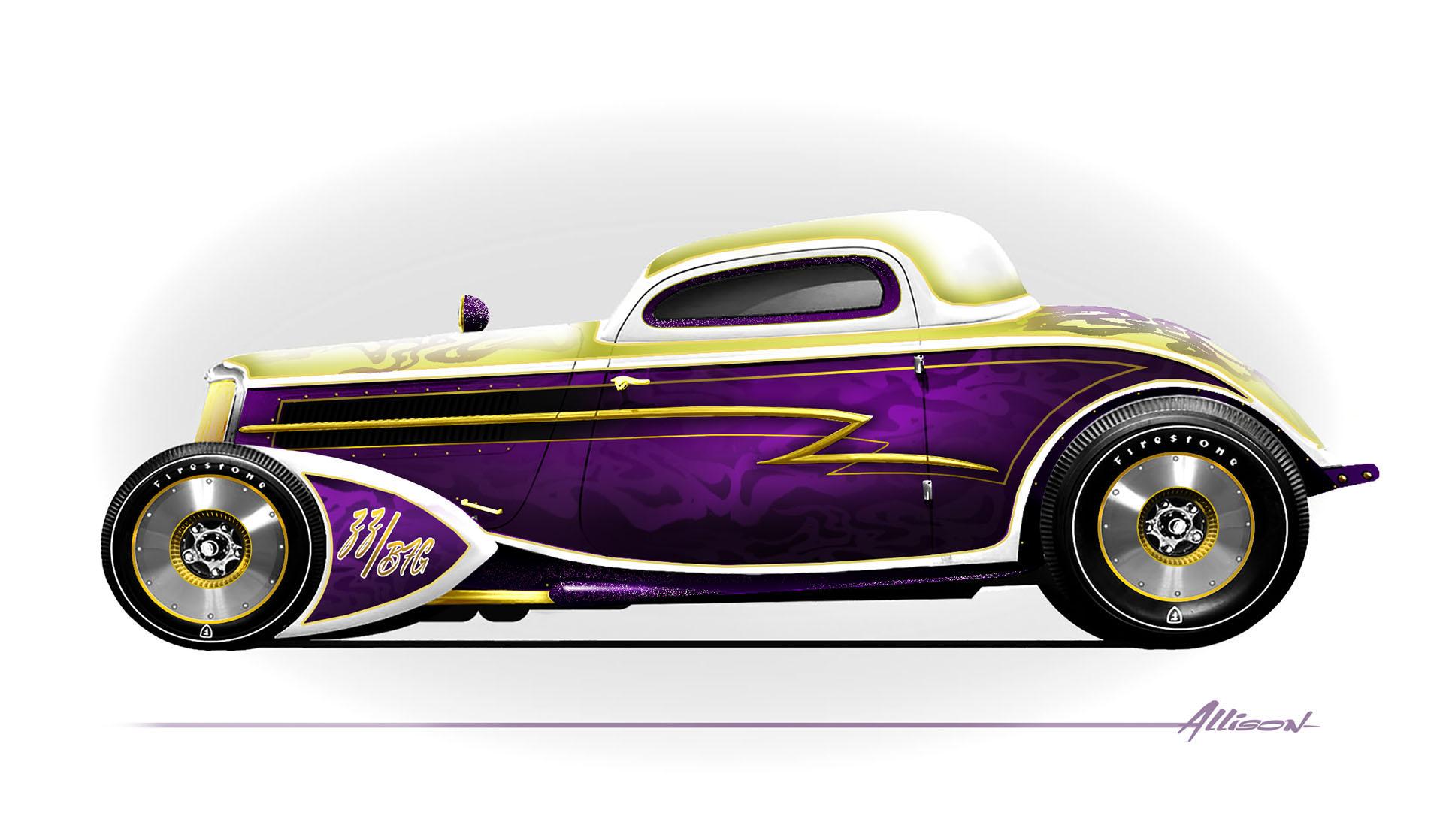 Whiskey Runner Ford Coupe concept art