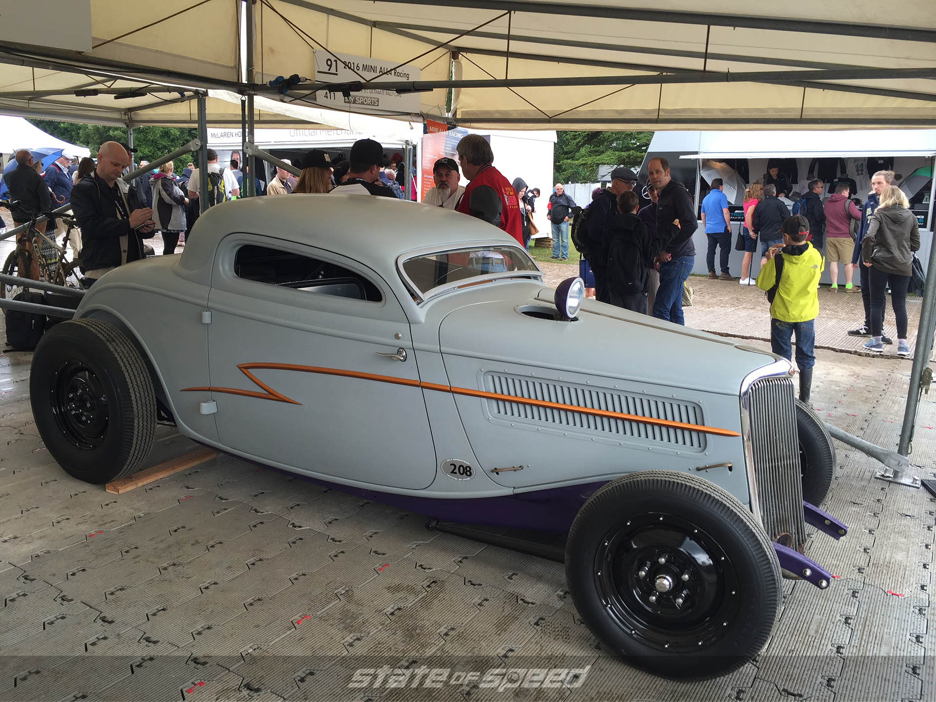 Whiskey Runner Ford Coupe at Goodwood FOS