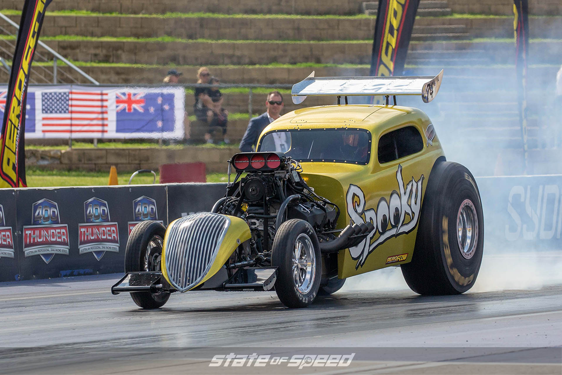 Fuel Altered Dragster at the track