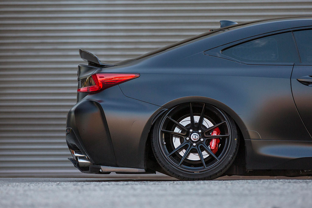 Lexus RCF with a quad exhaust