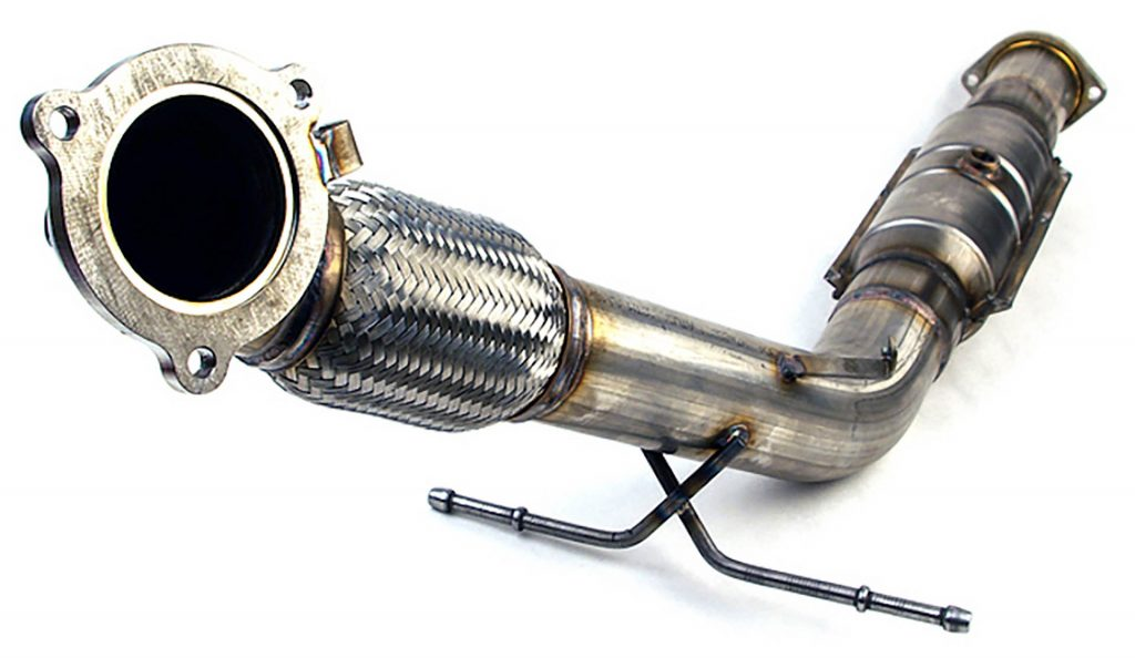 Downpipe with a catalytic converter