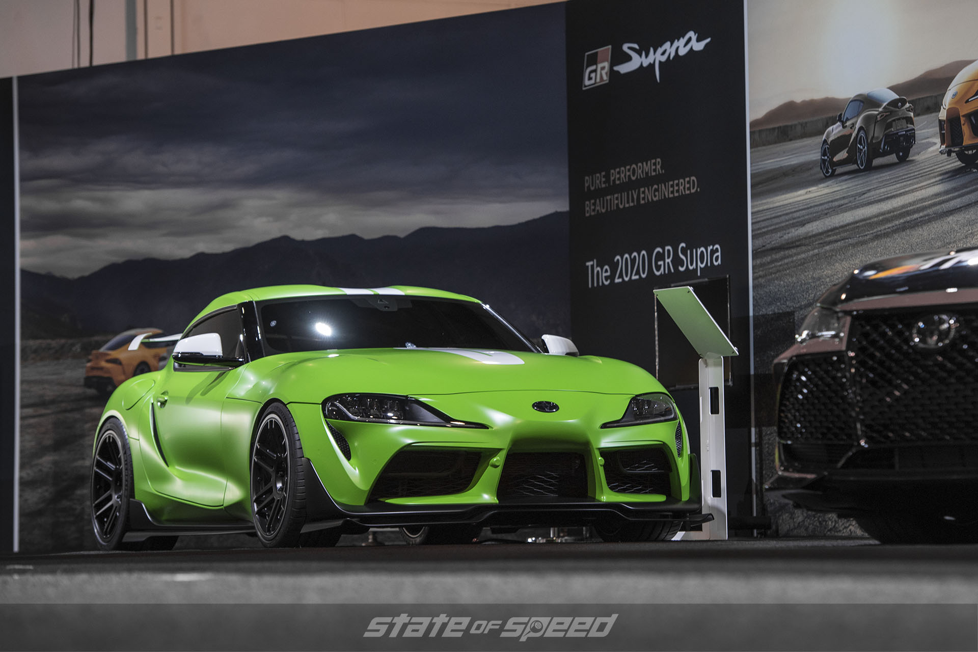 Wasabi edition GR in the Toyota booth at SEMA