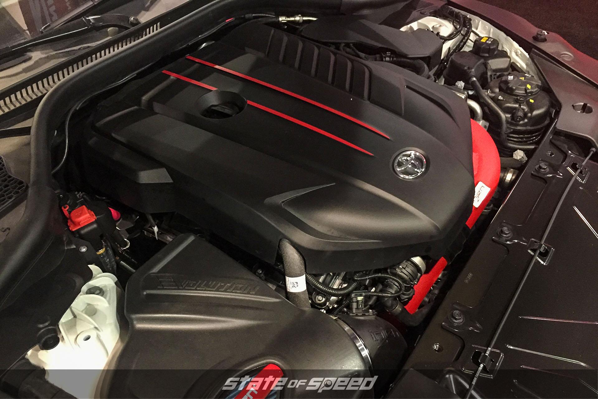 Engine shot of the new MKV