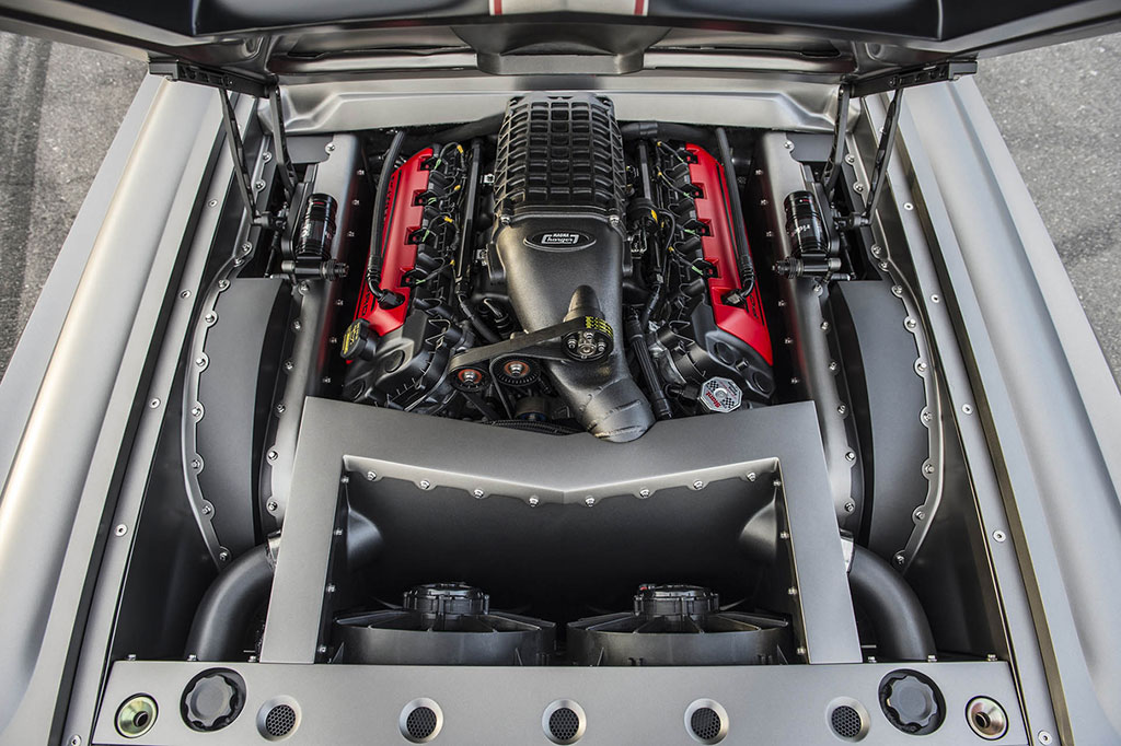 Built V8 in a classic muscle car