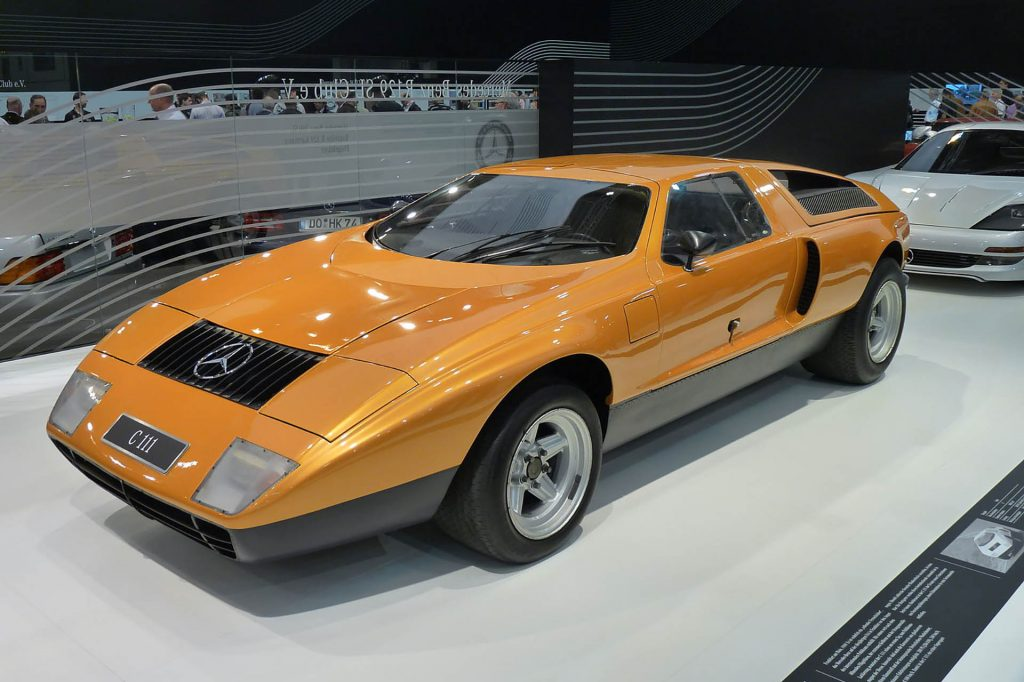 Mercedes Benz C111 with rotary engine